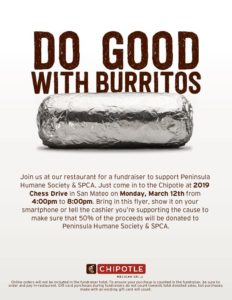 Chipotle Fundraiser @ Chipotle | San Mateo | California | United States