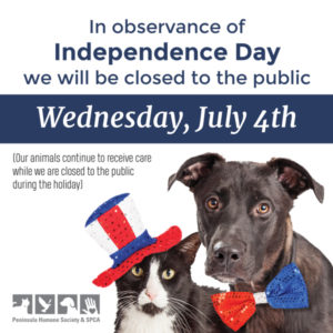 No Vaccine Clinic Today–Rescheduled to July 11 @ Peninsula Humane Society & SPCA